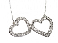 Double Hearts Plus Size Necklace