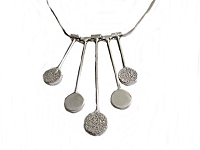Circles and Bars Italian Plus Size Necklace