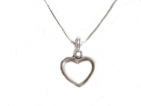 Open Polished Heart Plus Size Necklace