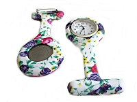 Nurse Watch or Pin Watch Floral 1