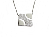Plus Size Necklace Fancy Square