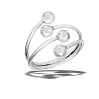 4 Bead Large Size Ring
