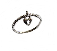 Dangling Heart Plus Size Ring