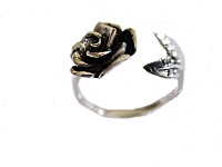 Rose Silver Large Size Ring