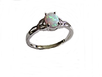 White Opal Large Size Ring