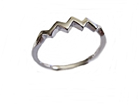 Zig Zag Band Large Size Ring