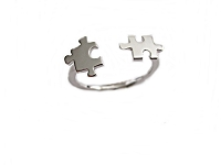 Puzzle Parts Plus Size Ring