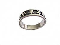 Silver Stars Large Size Thumb Ring
