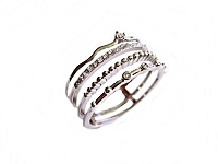 Four Band Stack Plus Size Ring