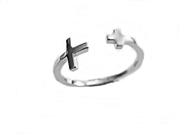 Silver Crosses Large Size Ring