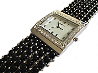 Black Plus Size Watch Bracelet
