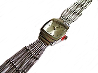 Silver Strands Plus Size Watch
