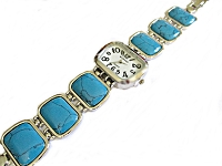 Turquoise Plus Size Watch Wide Band