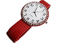 Red Stretch Fancy Plus Size Watch