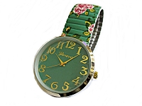 Mint Green Floral Stretch Watch 7 to 8 Inch
