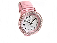 Pink Fancy Stretch Plus Size Watch 8 to 9 Inch