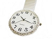 White Stretch Fancy Plus Size Watch