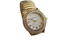 Gold Fancy Stretch Plus Size Watch 8 to 9 Inch