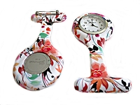 Nurse Watch or Pin Watch Floral 2