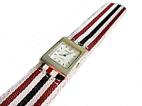 Red, Black and White Slap Watch Long
