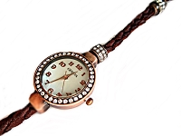 Brown Braid and Copper Plus Size Watch