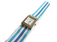 Plus Size Watch Slap Watch Blue and White