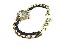 Black and Gold Large Size Watch