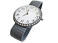 Fancy Gray Stretch Plus Size Watch 8, 9 Inch