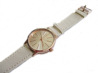Cream Strap Plus Size Watch
