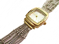 Two Tone Strands Plus Size Watch