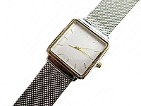 Silver Mesh Plus Size Watch