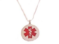 Plus Size Long Necklace Medical Alert