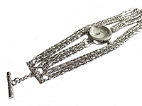 Silver Strands Plus Size Watch Bracelet