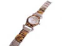 Plus Size Watch Brown Animal Print