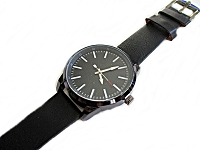 Men's Black Plus Size Watch Long Strap
