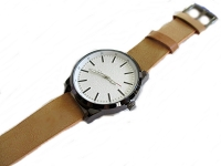 Men's Tan Plus Size Watch Long Strap