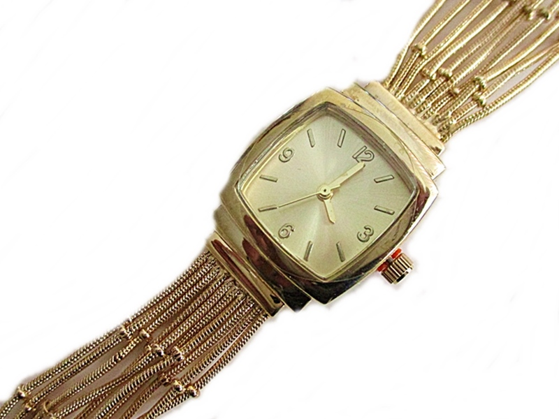 Gold Strands Plus Size Watch