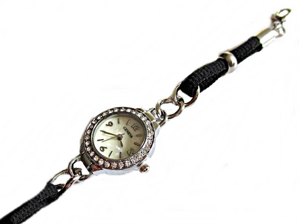Black and Silver Plus Size Watch