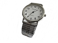 Stretch Band Plus Size Watch Silver 8 to 10 Inch