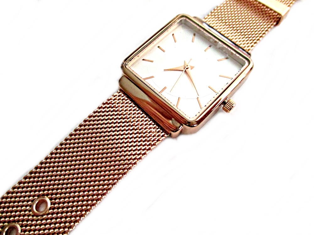 Rose Gold Mesh Plus Size Watch