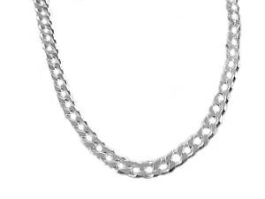 "Men's Sterling Silver Chain 24"" Curb Style 180"