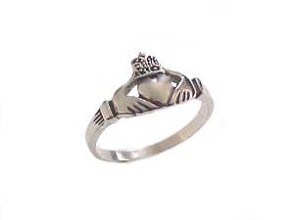 Claddagh Plus Size Ring Steel  6 to 18