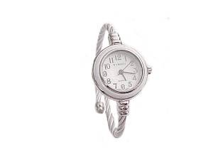 Silver and White Plus Size Watch Cable Wrap