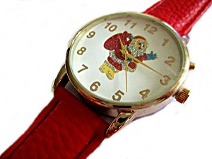 Gold Musical Santa Plus Size Watch